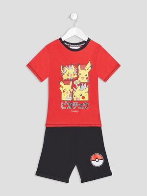 Ensemble 2 pieces Pokemon rouge garcon
