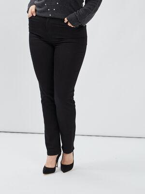Jeans regular grande taille noir femmegt