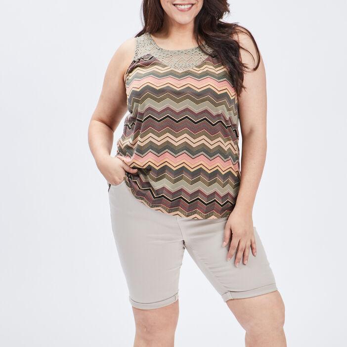 Débardeur bretelles larges femme grande taille multicolore