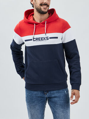 Sweat a capuche Creeks rouge homme