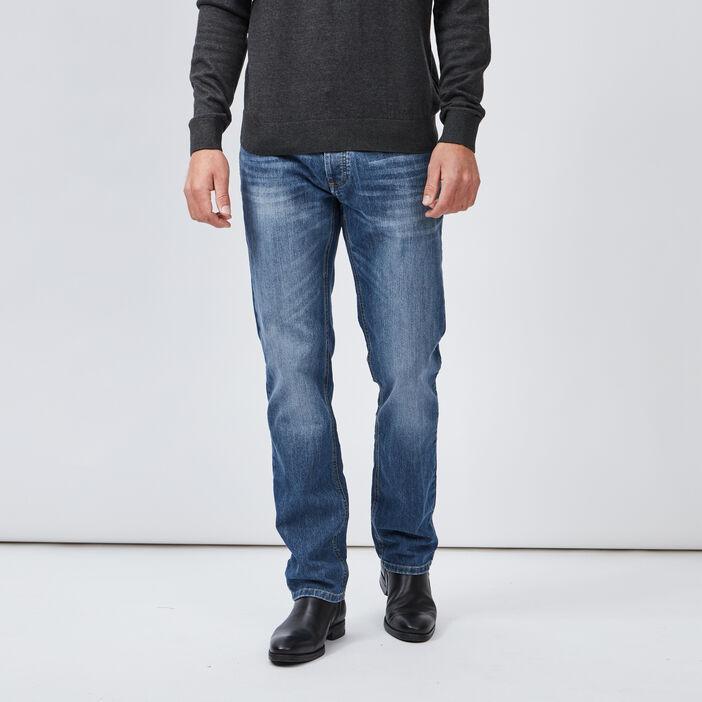 Jeans slim effet délavé homme denim double stone