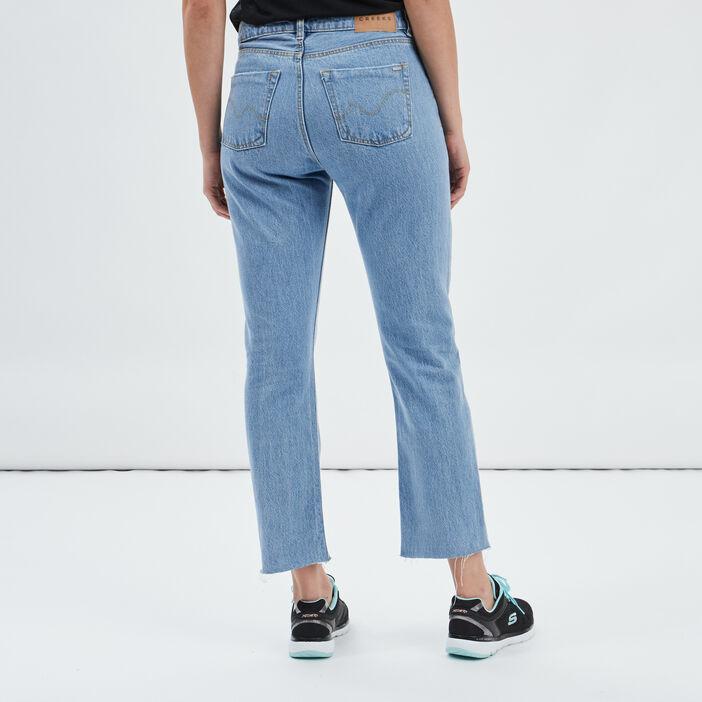 Jeans straight 7/8ème femme denim triple stone