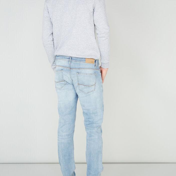 Jeans slim effet délavé homme denim bleach