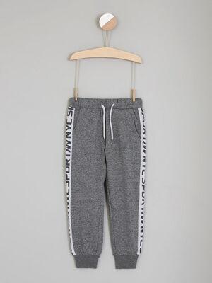 Pantalon coupe jogging bandes laterales gris garcon