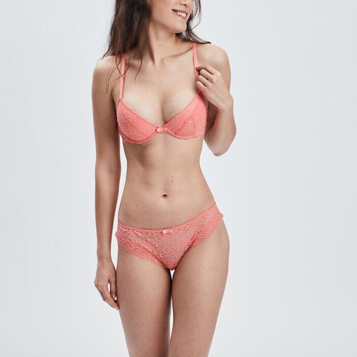 Culotte femme orange corail