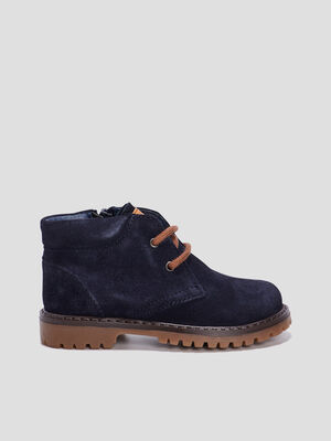 Bottines crantees Creeks bleu marine