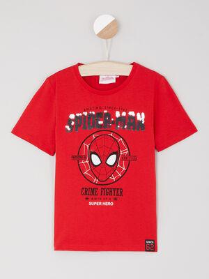 T shirt manches courtes rouge garcon