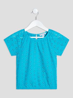 T shirt manches courtes Creeks bleu turquoise fille