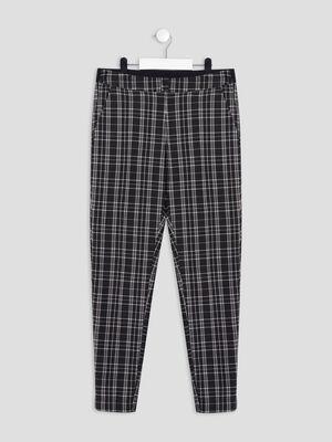 Pantalon droit elastique noir fille