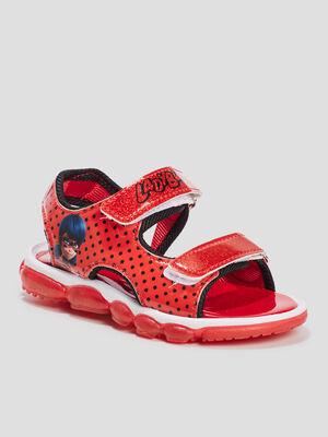 Sandales Miraculous Ladybug rouge fille