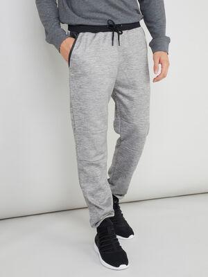 Pantalon elastique avec cordon gris homme