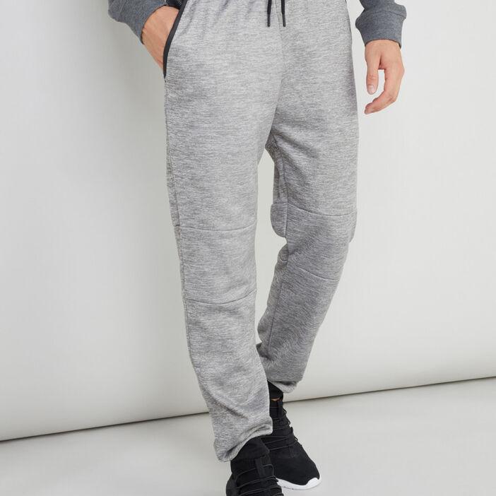 Pantalon élastiqué avec cordon homme gris