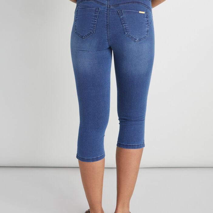 Pantacourt slim jean coton majoritaire femme denim double stone