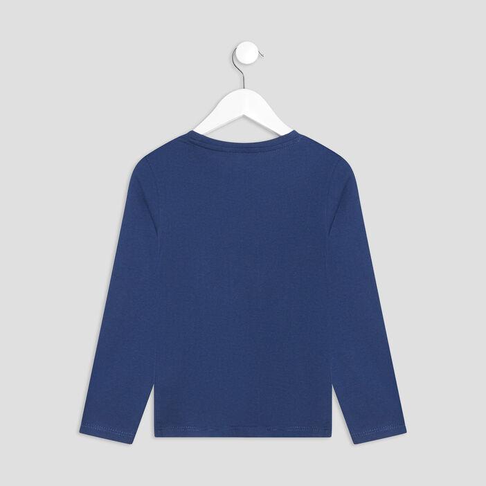 T-shirt manches longues garçon bleu foncé