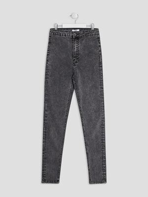 Jeans skinny gris fille