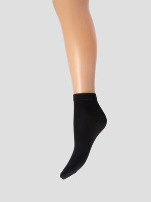 Lot 2 paires socquettes DIM noir femme