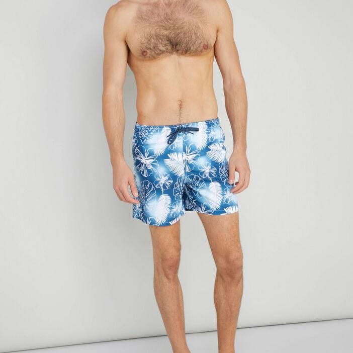 Bermuda de bain imprimé tropical homme multicolore