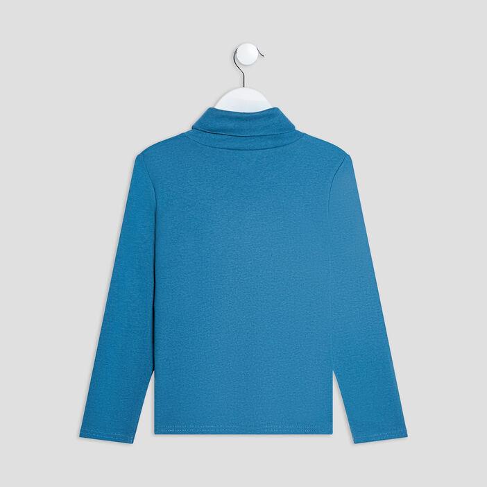 T-shirt manches longues garçon bleu canard