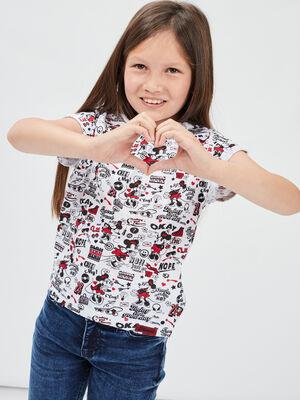 T shirt manches courtes Minnie multicolore fille