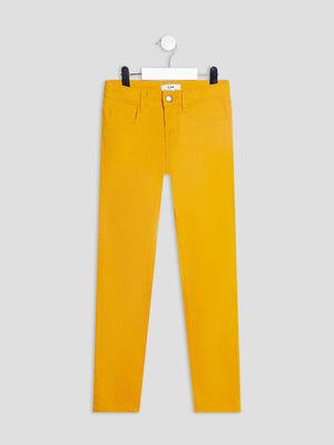 Pantalon skinny stretch jaune moutarde garcon