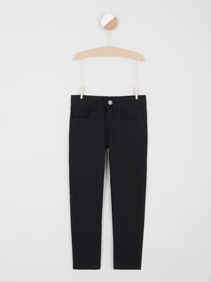 Pantalon regular uni noir garcon