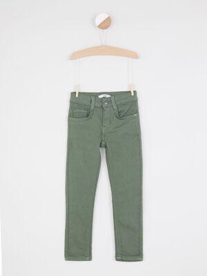 Pantalon confort coupe slim vert kaki garcon