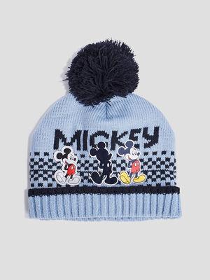 Bonnet a pompon Mickey multicolore bebeg