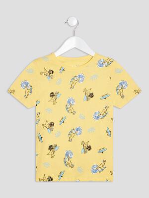 T shirt manches courtes jaune garcon