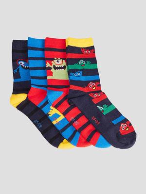 Lot 4 paires chaussettes multicolore garcon