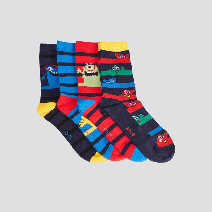 Lot 4 paires chaussettes garçon multicolore