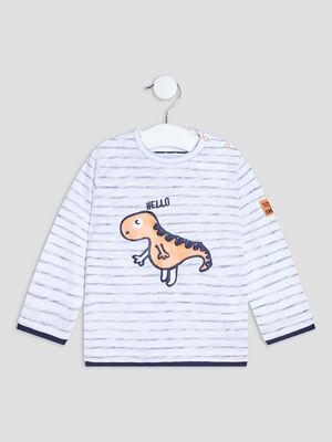 T shirt manches longues Creeks ecru bebeg