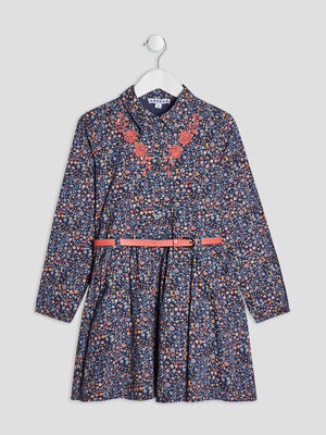Robe evasee ceinturee Creeks multicolore fille