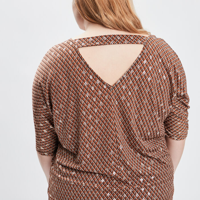 T-shirt grande taille femme grande taille camel