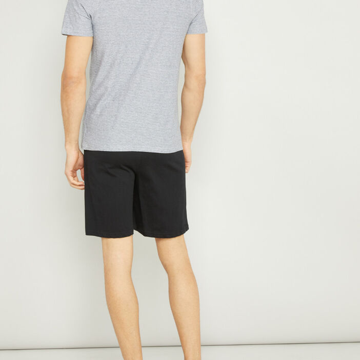 Pyjama court avec imprimé homme gris