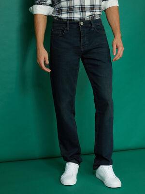 Jean droit 5 poches denim blue black homme