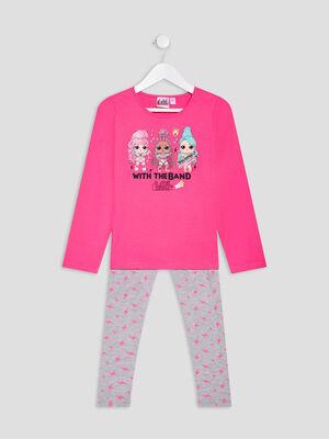 Ensemble pyjama 2 pieces LOL rose fille