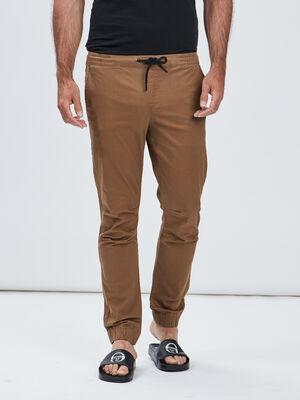 Pantalon jogpant marron cognac homme