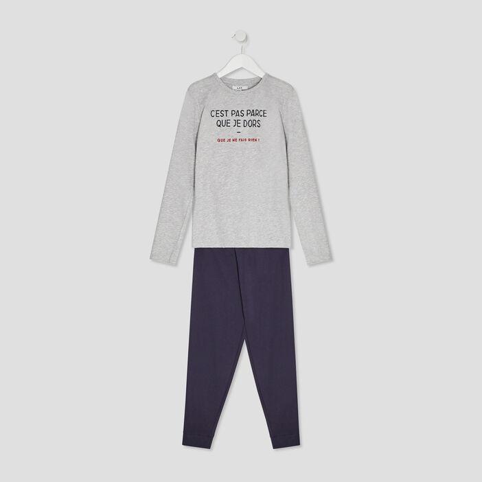Ensemble pyjama garçon gris