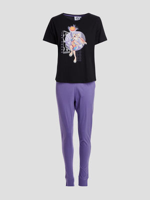 Ensemble pyjama Space Jam violet femme