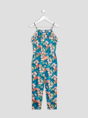 Combinaison pantalon a volants multicolore fille