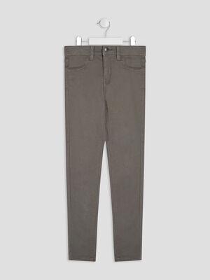 Pantalon skinny vert kaki fille