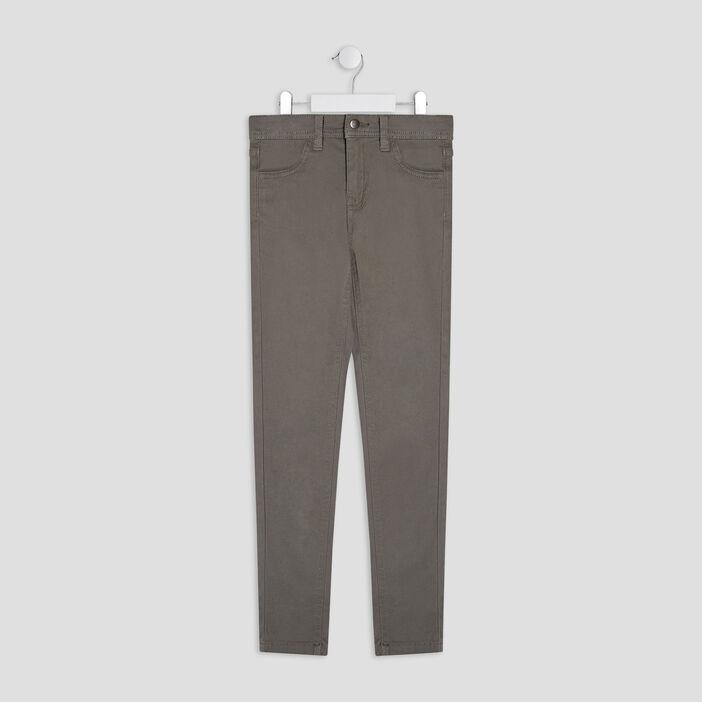 Pantalon skinny fille vert kaki