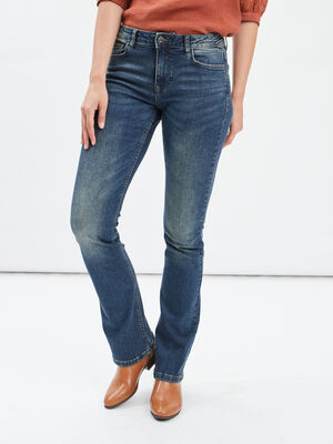 Jeans bootcut taille basse denim dirty femme
