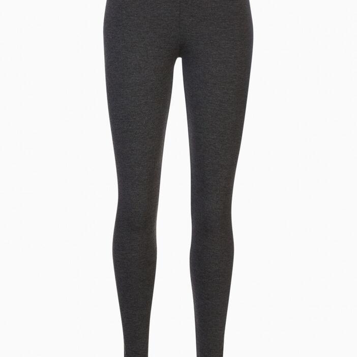 Legging long uni femme gris foncé
