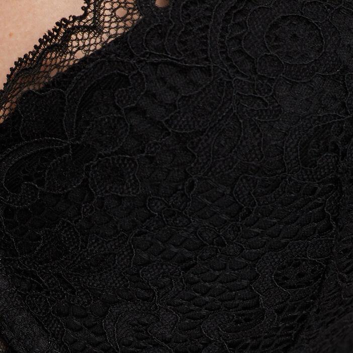 Soutien-gorge foulard femme noir