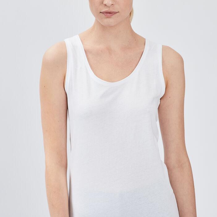 Débardeur bretelles larges femme blanc