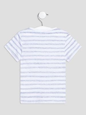 T shirt manches courtes bleu bebeg