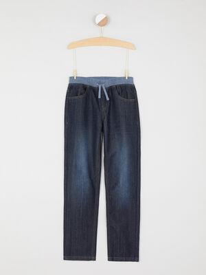 Jean taille extensible coton majoritaire denim brut garcon