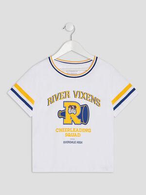 T shirt Riverdale blanc fille