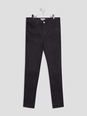 Pantalon skinny stretch gris fonce garcon